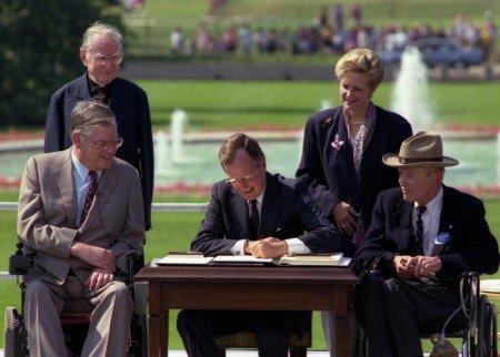 President Bush Signing ADA Law July 26,1990